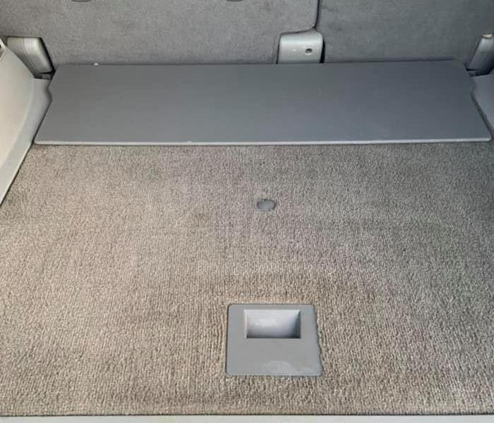 inside of vehicle with clean carpet